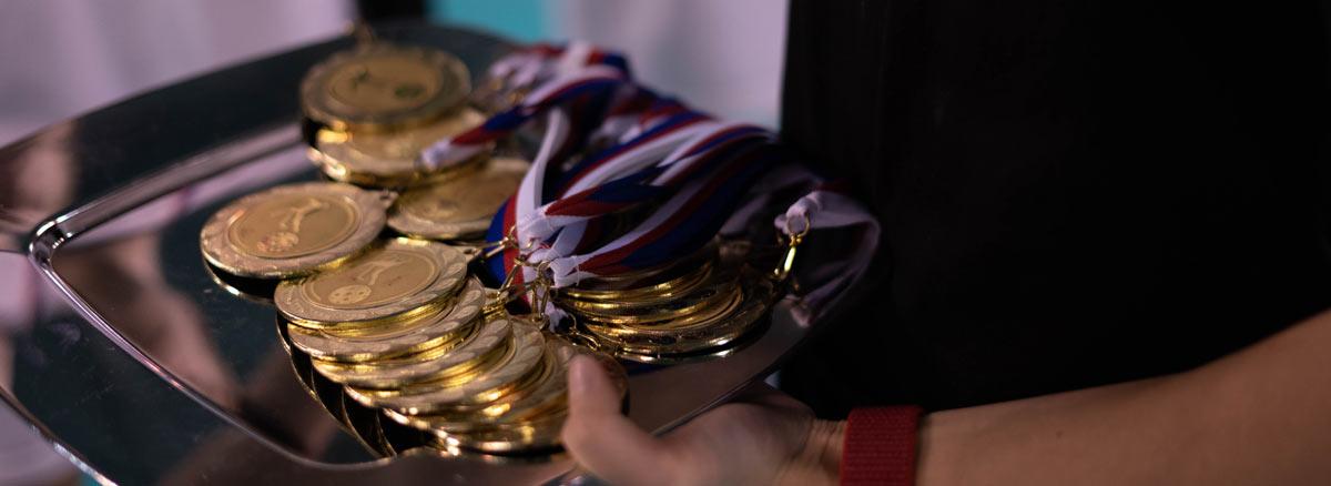 obrázek medailí